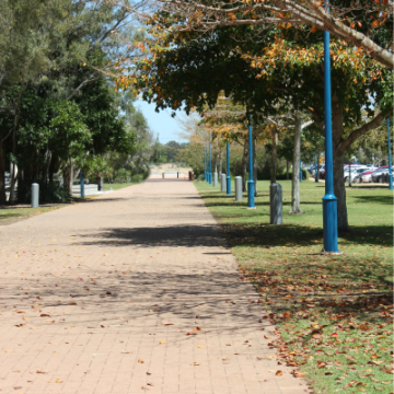 Long_commercial_paved_pathway_in_public_park_in_Hervey_Bay
