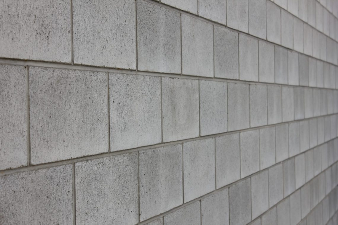 Grey Block laid in a wall