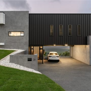 Modern Industrial Home with Grey Block Walls