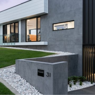 Modern Industrial Home with Rendered Block Walls