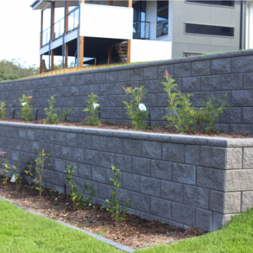 Terraced_Charcoal_Retaining_Wall_with_garden_beds