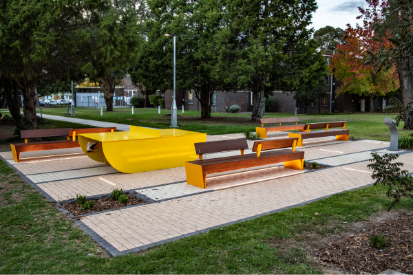 Rest_areas_at_Armidale_University_including_small_format_feature_paving_light_strips_and_street_furniture